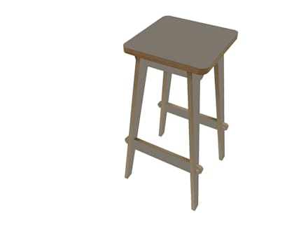 Timor Bar Stool - Lava Grey:  Bars & clubs by SOAP designs