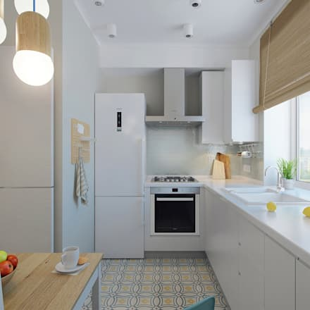 Cocinas de estilo escandinavo por Ekaterina Donde Design