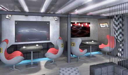 """Картинг-клуб """"Arena GP"""": Автосалоны в . Автор – Дизайн-студия HOLZLAB"""