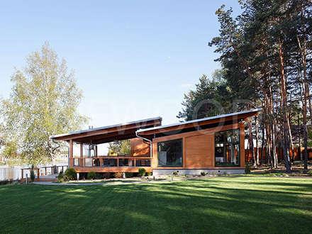 Casas de estilo escandinavo por NEWOOD - Современные деревянные дома