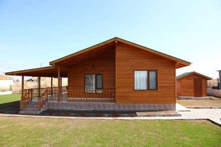 Kuloğlu Orman Ürünleri – AHSB - AHŞAP EV MODEL B: modern tarz Evler