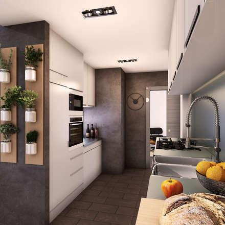 cocina: Cocinas de estilo minimalista de 2vsarq