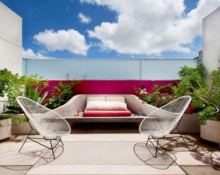 Casa Santiago 49: Terrazas de estilo  por Taller Estilo Arquitectura