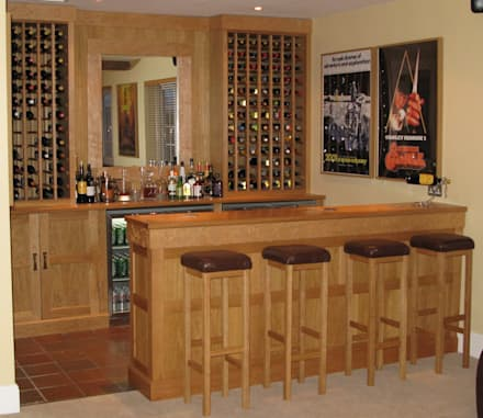 Home Bar: classic Wine cellar by Nick Clarke, Cabinet Maker & Designer