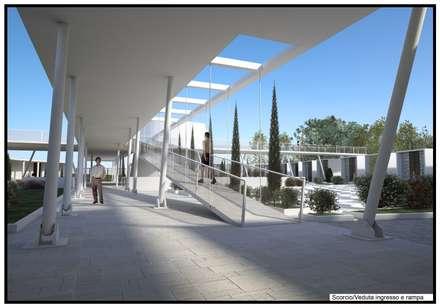 Piano cimiteriale dell'isola di San Domino - Isole Tremiti (Fg): Stadi in stile  di RDstudioarchitettura - daniele russo architetto