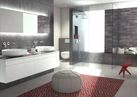 De grote inloopdouche: moderne Badkamer door wedi