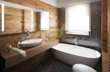 Bagno padronale: Bagno in stile in stile Eclettico di Beniamino Faliti Architetto
