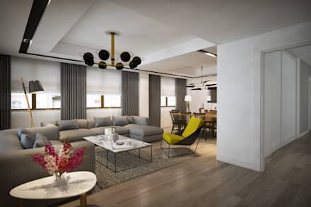 yücel partners – D&S Altaş Home: modern tarz Oturma Odası