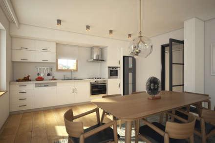 yücel partners – Taşbaşı House: iskandinav tarz tarz Mutfak