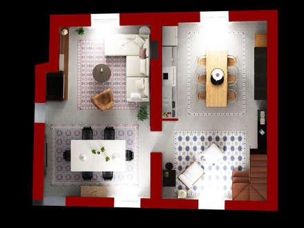 la disposizione degli ambienti principali della casa: Case in stile in stile Moderno di Beniamino Faliti Architetto