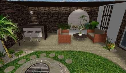 diseño - área social: Jardines de estilo moderno por Zen Ambient