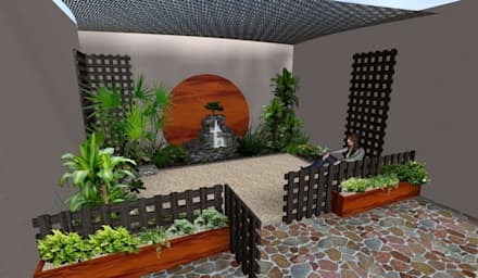 Jardines de estilo rústico por Zen Ambient