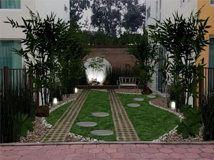 Jardines de estilo topical por Zen Ambient