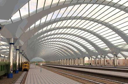 Вокзал: Аэропорты и морские порты в . Автор – Architoria 3D