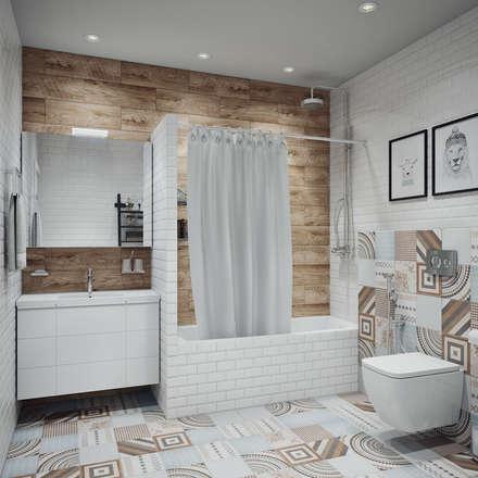 scandinavian Bathroom by Анна Теклюк