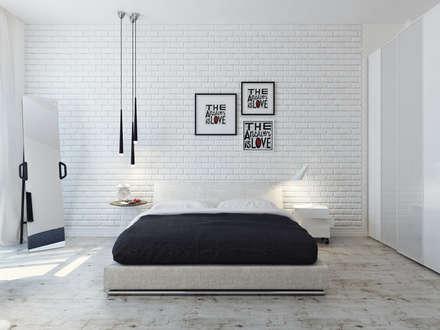 Спальня 1й этаж: Спальни в . Автор - Оксана Мухина