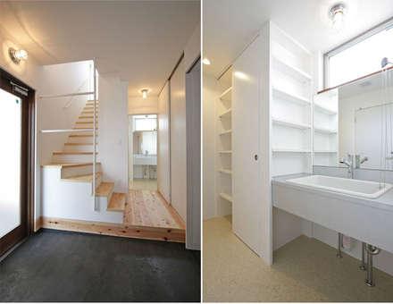 小田原 西湘 オーシャンビューの家: ミナトデザイン1級建築士事務所が手掛けた浴室です。