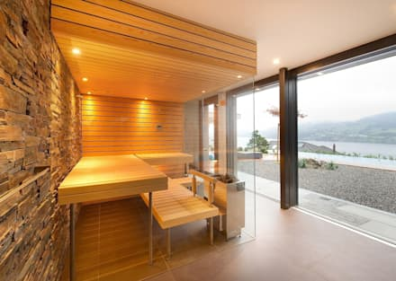 Glass fronted Sauna : modern Spa by Prestige Saunas Ltd