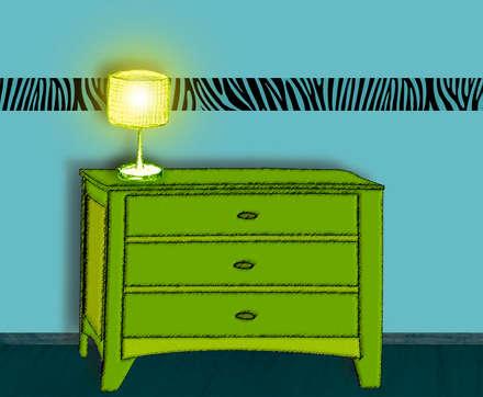 Bordüre - Zebra Muster 2: koloniale Wohnzimmer von Mein Bordürenladen