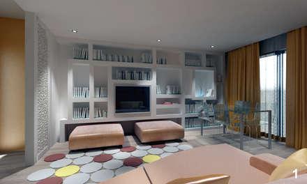 Vista zona TV: Soggiorno in stile in stile Moderno di Bianca Coggi Architetto