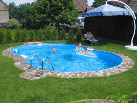 Swimming pool designs ideen und bilder homify for Poolumrandung achtformbecken
