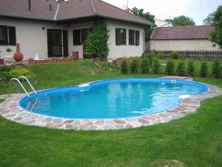 swimming pool designs ideen und bilder homify. Black Bedroom Furniture Sets. Home Design Ideas