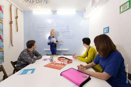 Маркерные стены вместо досок в Академии Воркплейса: Конференц-центры в . Автор – IdeasMarket