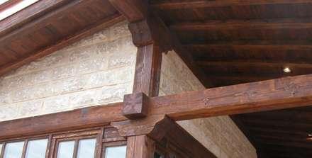 BODEGA Y MERENDERO PARA WURTH ESPAÑA S.A. AGONCILLO. LA RIOJA.: Bodegas de estilo rústico de Estudio A. Devalle-Granell Arquitectura.