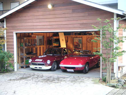 landhausstil Garage & Schuppen von J-STYLE GARAGE Co.,Ltd.