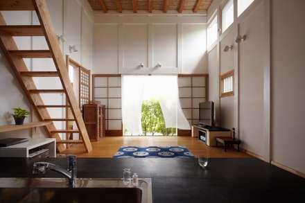 ホリナンの家: 平野建築設計室が手掛けたリビングです。