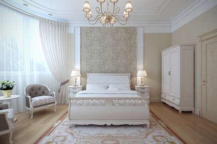 Сохраняя традиции: Спальни в . Автор - Студия интерьера 'SENSE'