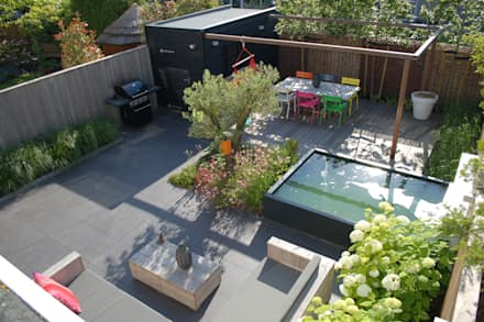 Strakke tuin Ibiza-style in Amstelveen: mediterrane Tuin door Biesot