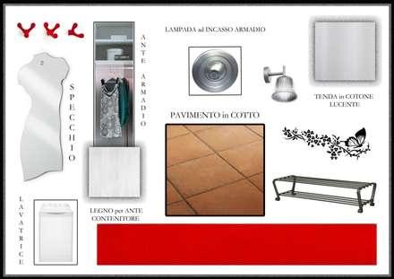 Concept Board CABINA ARMADIO: Spogliatoio in stile  di Design of SOUL Interior DESIGN