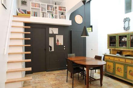 Pavillon esprit loft: Salle à manger de style de style Moderne par MSD architecte d'intérieur
