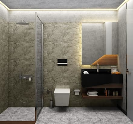 Voltaj Tasarım – ORANIO: minimal tarz tarz Banyo