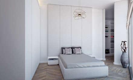 Voltaj Tasarım – AA EVİ: minimal tarz tarz Yatak Odası