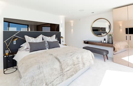 Waterside Apartment by WN Interiors: modern Bedroom by WN Interiors of Poole in Dorset