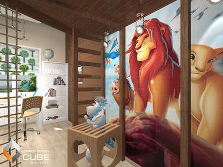 Дизайн детской комнаты для мальчика в мансардном этаже частного дома: Детские комнаты в . Автор – Лаборатория дизайна 'КУБ'