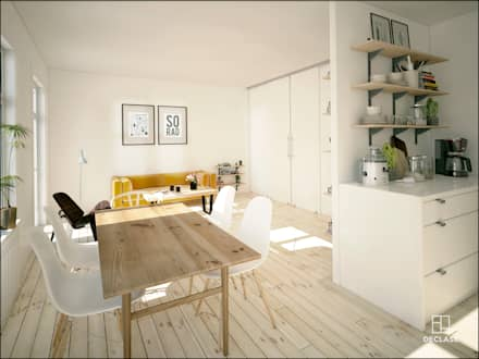minimalistic Dining room by DECLASE