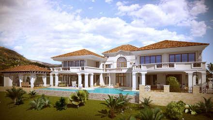 Дом на Кипре 1500м2: Дома в . Автор – Архитектурная мастерская Бориса Коломейченко
