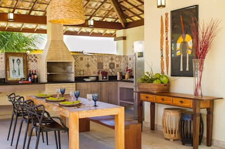 Hiên, sân thượng by Jamile Lima Arquitetura