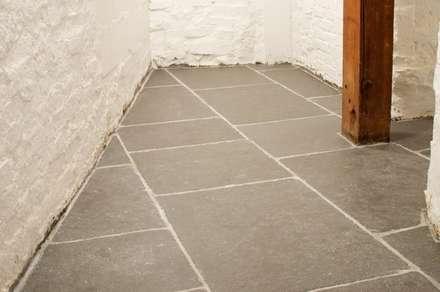 Worn Grey Limestone:  Walls by Floors of Stone Ltd