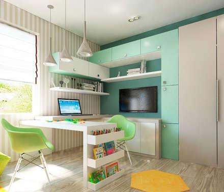 Акварельные карандаши: Детские комнаты в . Автор – Sweet Hoome Interiors