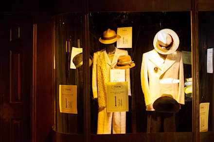 Mens Fashion window:  Event venues by Traces London
