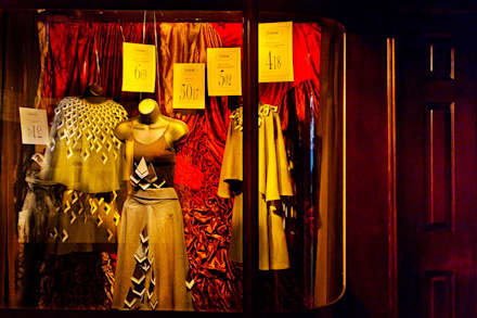 Womans Fashion window:  Event venues by Traces London