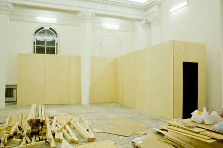 Инфо стена на выставке Бал Роботов: Галереи  в . Автор – Мебельная компания FunEra. Изготовление мебели из фанеры на заказ. http://www.fun-era.ru