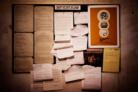 Staff room Notice Board:  Event venues by Traces London