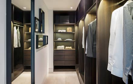 Roman House Penthouse: modern Dressing room by The Manser Practice Architects + Designers