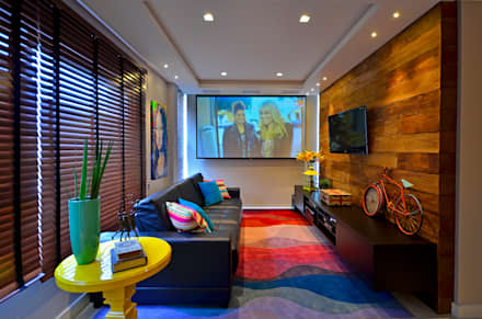 modern Media room by Juliana Baumhardt Arquitetura