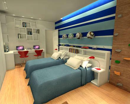 modern Nursery/kid's room by Konverto Interiores + Arquitetura